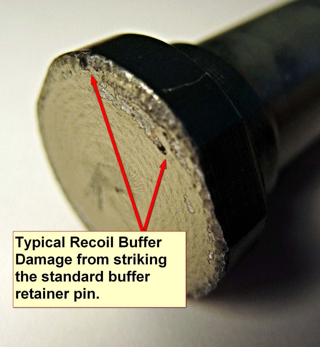 Peened Buffer fixed with Offset Retainer Pin - AR15 COM